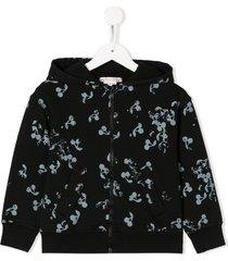 bonpoint cherry print hoodie - black