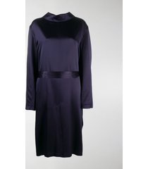 balenciaga silk backwards-collar dress
