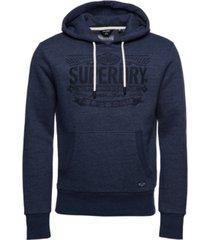 superdry men's reworked classics applique hoodie