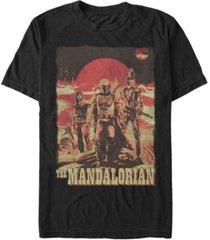 fifth sun star wars the mandalorian space cowboy friends short sleeve men's t-shirt