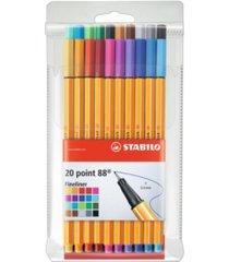 stabilo point 88 pen wallet, 20 pieces