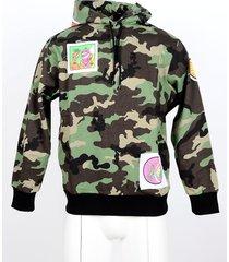 jeremy scott designer sweatshirts, camouflage green cotton men's hoodie