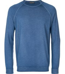 drumohr classic fitted sweater - blue