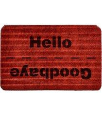 capacho carpet goobaye/hello vermelho ãšnico love decor - vermelho - dafiti