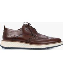 zapatos cordón de cuero oxford