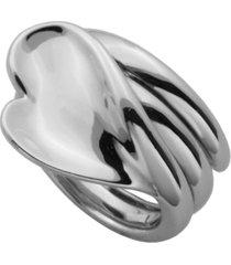 925 sterling silver heart design ring
