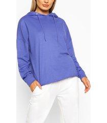 basic oversized hoodie, electric blue