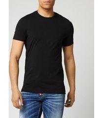 dsquared2 men's square arm patch t-shirt - black - xl