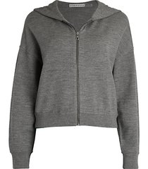 kyle zip-up crop hoodie