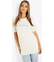cosmic queen t-shirt, ecru