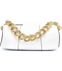 manu atelier mini xx cylinder shoulder bag - white