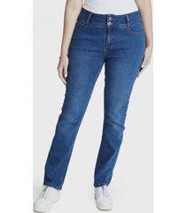 jeans recto 2botones celeste curvi