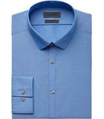 calvin klein infinite frost blue slim fit dress shirt