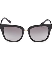 giorgio armani women's 54mm square sunglasses - black