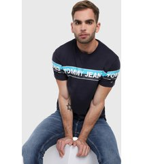 camiseta azul navy-blanco tommy jeans