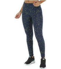 calça legging oxer crystal - feminina - azul esc/verde cla