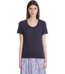 isabel marant étoile kiliann t-shirt in blue linen