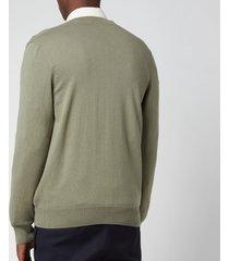 a.p.c. men's joseph cardigan - green - l