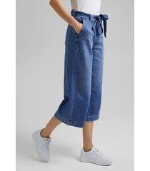 jeans culotte en algodón ecológico denim esprit