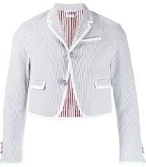 thom browne rugby striped raglan sport jacket - white