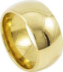 aliança de aço-titânio tudo jóias 10mm dourada