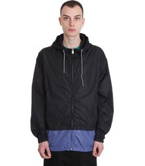 marni casual jacket in black tech/synthetic