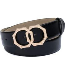 inc double-circle bamboo-buckle belt, created for macy's