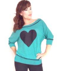 blusa en hilo amplia sarab /verde azulado