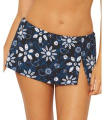 bleu by rod beattie printed skirted bikini bottoms women's swimsuit