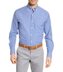 men's peter millar brenton regular fit gingham check button-down shirt