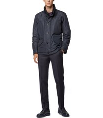 boss men's callion water-repellent quilted field jacket