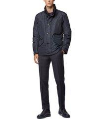 boss men's callion water-repellent quilted field jacket