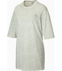 all-over printed oversized t-shirt voor dames, grijs/aop, maat 3xl | puma