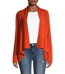 calvin klein women's high-low open-front jacket - spicy orange - size xl