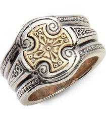 men's konstantino stavros cross signet ring