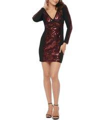 guess long-sleeve sequin dress