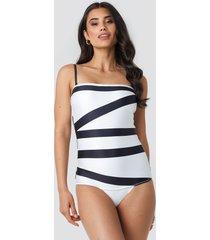 calvin klein bandeau one piece swimsuit - multicolor