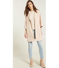 motivi cappotto caban in simil suède donna rosa