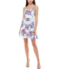 almost famous juniors' printed fit & flare dress