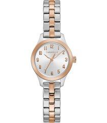 caravelle designed by bulova women's two-tone stainless steel bracelet watch 24mm