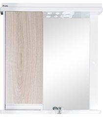 armário central em mdf e mdp azzira 65x61cm carvalho