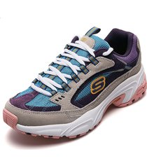 tenis lifestyle multicolor skechers sugar rocks