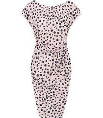 cheetah strik jurk roze
