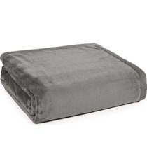 cobertor king piemontesi cinza escuro trussardi - pronta entrega