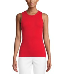 anne klein ribbed sleeveless top