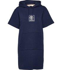 ss hoodie dress dresses t-shirt dresses blå timberland