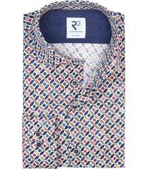 r2 amsterdam shirt geprint multicolor