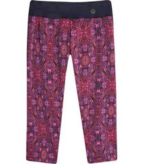 legging capri estampado color rosado, talla xxl