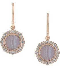 astley clarke lace agate luna drop earrings - metallic