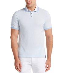 men's big and tall ombre collar pique short sleeve polo shirt